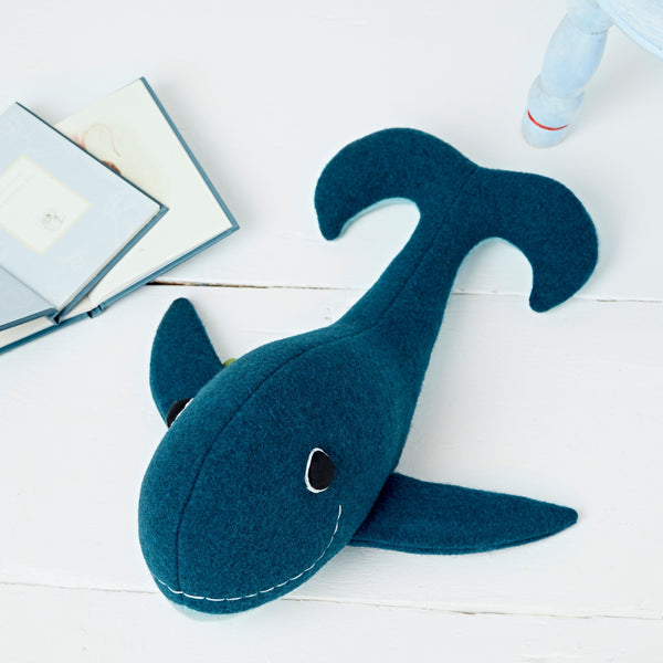 Whale Soft Toy in Blue By cdbdi