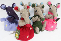 group of soft toy shrews by cdbdi