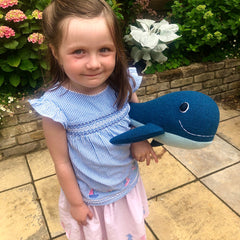 Whale Soft Toy Handmade And Personalised