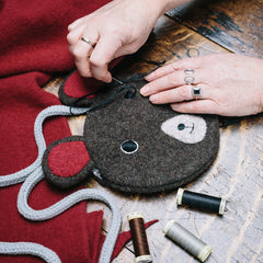 Bear shaped handbags by CDBDI are handmade in the UK.