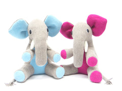 large handmade personalised boy and girl elephants by cdbdi