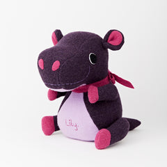 Hippo Soft Toy For Children on a White Background