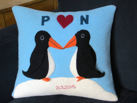 Personalised 3d penguin cushion by cdbdi