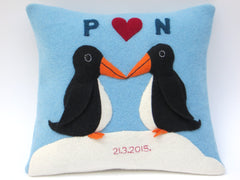 Personalised 3d penguin cushion by cdbdi on white background