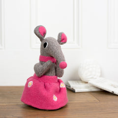 grey girl shrew with light pink skirt by cdbdi