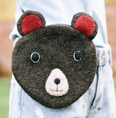 Girl's bear shaped handbag.