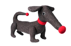 brown soft toy dachshund by cdbdi on white background