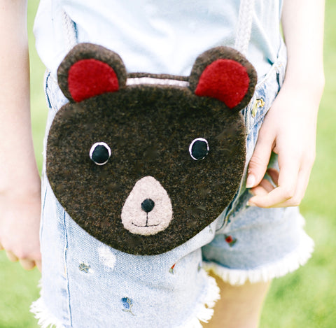 children's bear hand bag by cdbdi