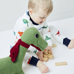 Dinosaur medium size with small boy