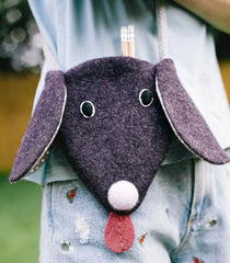 kids dog shaped wool handbag by cdbdi