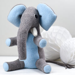 medium sized elephant in blue
