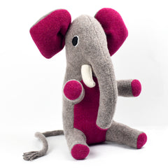 Medium sized personalised soft toy elephant