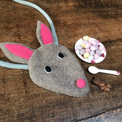 Flat lay Easter bunny bag by cdbdi