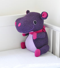 Hippo Soft Toy in a cot by Cdbdi
