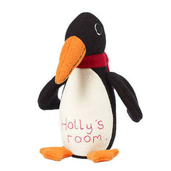personalisation on penguin doorstop by cdbdi