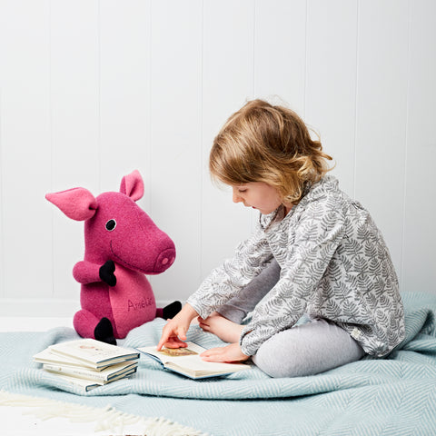 Pig Soft Toy, Handmade And Personalised