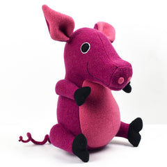 soft toy pig with white background