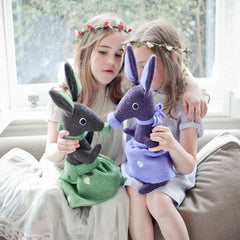 Soft toy bunny rabbits, chatting with the girls by cdbdi