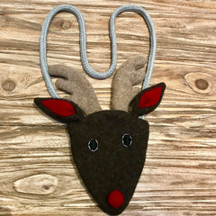 fast lay on wood of reindeer handbag by cdbdi
