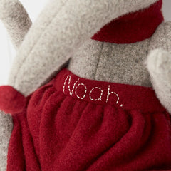 Shrew Large Cuddly Soft Toy Close Up Of Personalisation