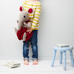 Shrew Large Soft Toy With Little Girl Side View