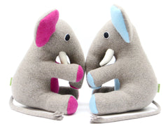 Large personalised soft toy elephant pair by cdbdi