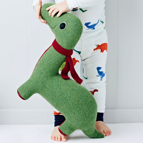 Dinosaur Medium Sized in Green and Red by cdbdi