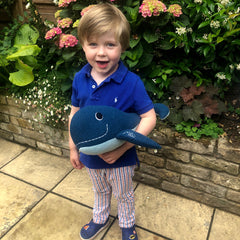 Whales Soft Toy With Little Boy
