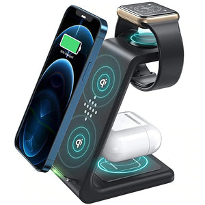 Best wireless charger for iphone, 3 in 1 charging dock also for iwatch and Airpods pro