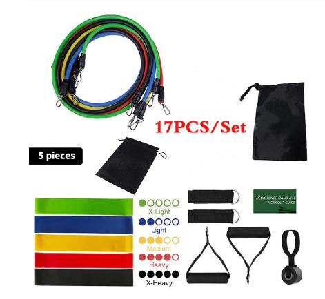 High quality Resistance Bands workout Set with door anchor (17 Items set)