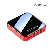 Load image into Gallery viewer, Mini Power Bank 10000mah 20000mah 2.1A Fast Charging Three-line Charger LED Digital Display Portable PoverBank External Battery