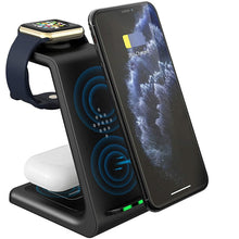 Load image into Gallery viewer, Best wireless charger for iphone, 3 in 1 charging dock also for iwatch and Airpods pro
