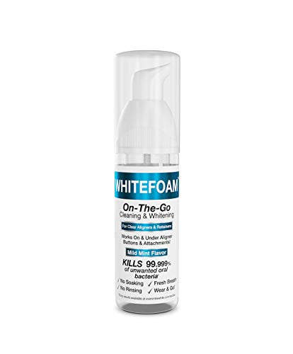 WhiteFoam On-the-Go Clear Invisible Retainer Cleaner
