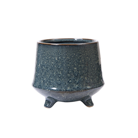 Kiku Footed Planter - Jade