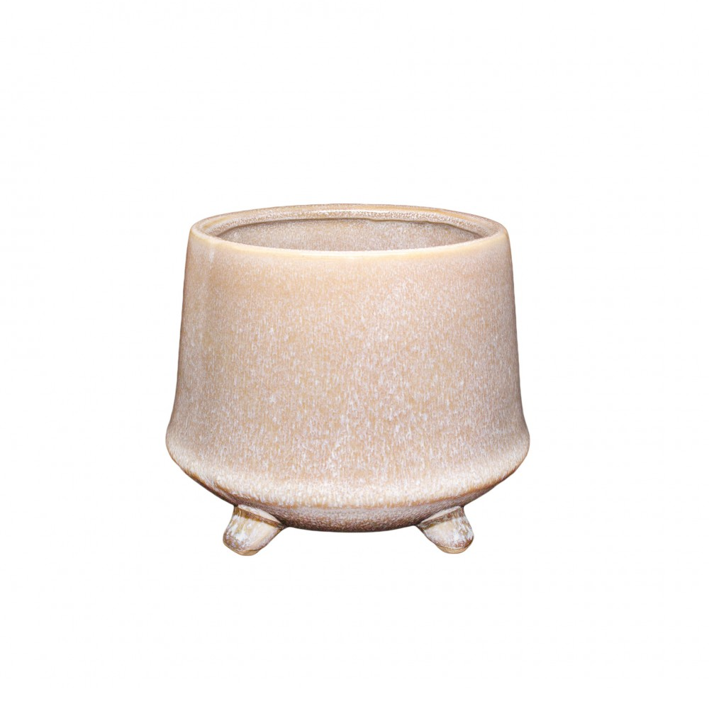 Kiku Footed Planter - Rose Sand