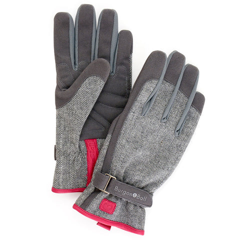 Gardening Gloves - Grey Tweed