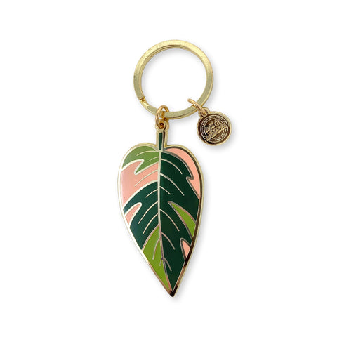 Pink Princess Philodendron - Keychain