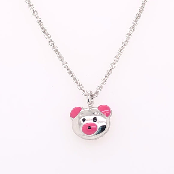 Pink Bear Necklace