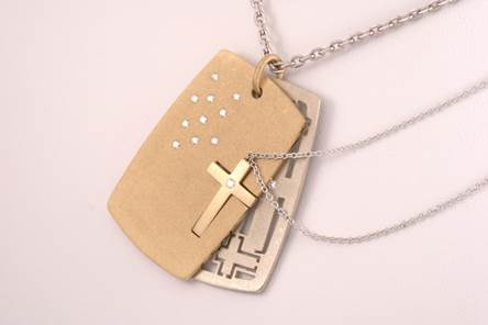 Dogtag Platinite Front with Cross