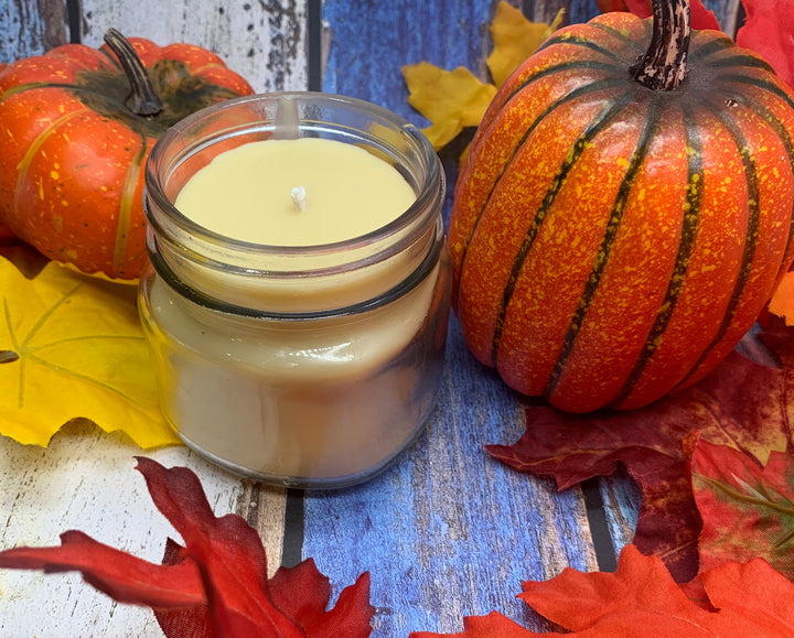 Pumpkin Pie Beeswax Candle - Blue Dragonfly Acres LLC