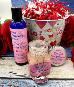Valentine's Day Bath Gift Set - Blue Dragonfly Acres LLC