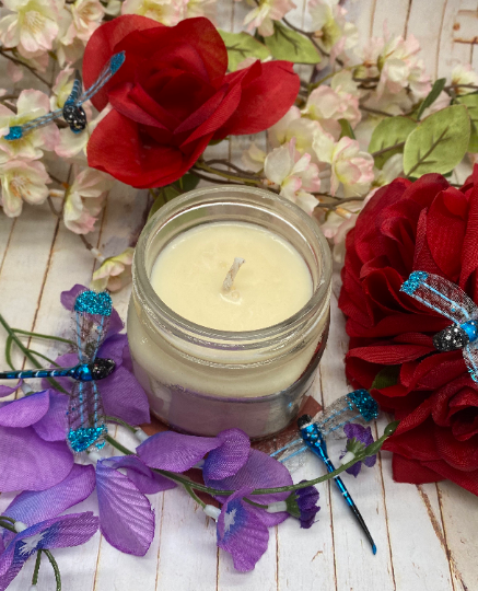 Dragonfly Kisses Soy Candle -  Soy Candle -  Hand Poured 100% Soy Non-Toxic Candle - Blue Dragonfly Acres LLC