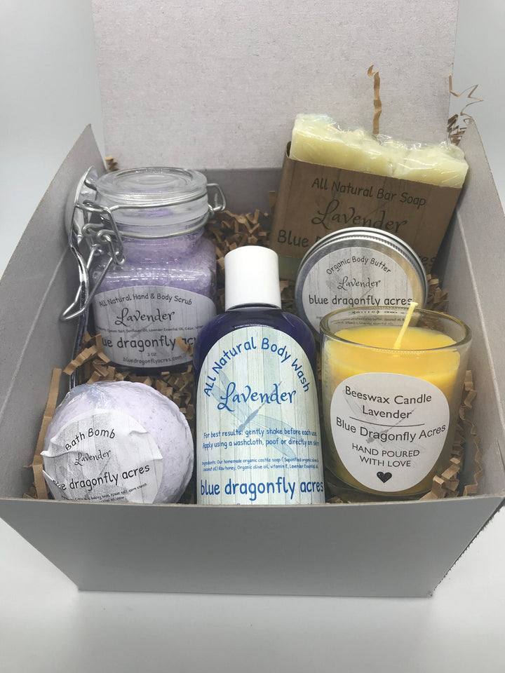 Lavender Gift Box I Bath - Blue Dragonfly Acres LLC