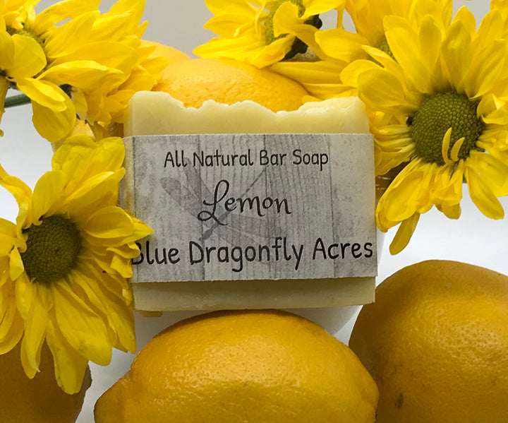 Lemon Bar Soap - Handmade Cold Pressed - Blue Dragonfly Acres LLC