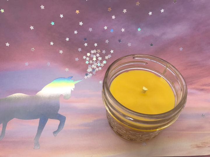 Unicorn Farts Beeswax Candle - Blue Dragonfly Acres LLC