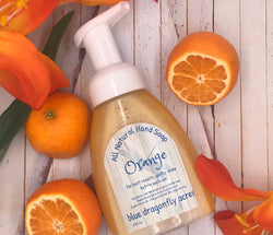 Orange Foaming Hand Soap  | Natural Hand Wash - Blue Dragonfly Acres LLC