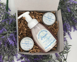 Lavender Hand Wash and Lotion Gift Basket - Blue Dragonfly Acres LLC