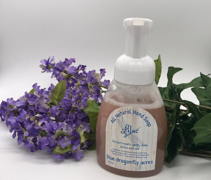 Foaming Hand Soap  - Lilac | Natural Hand Wash - Blue Dragonfly Acres LLC