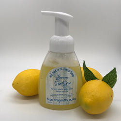 Foaming Hand Soap  - Lemon - Tea Tree | Natural Hand Wash - Blue Dragonfly Acres LLC