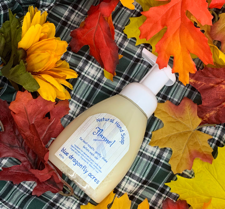 Foaming Hand Soap  - Flannel | Natural Hand Wash - Blue Dragonfly Acres LLC